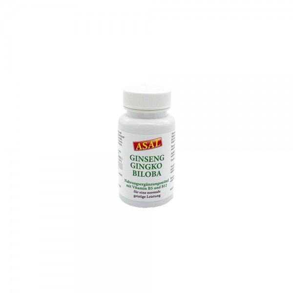 Ginseng Gingko Biloba mit Vitamin B5 und B12