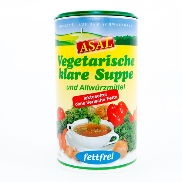 Vegetarische klare Suppe